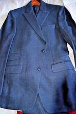$2.6k NWT PAUL STUART Navy herringbone 3 pc SILK LINEN 40L eu50 peak lapel suit