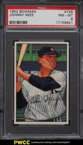 1952 Bowman Johnny Mize #145 PSA 8 NM-MT