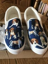 New Slip on Canvas Sneaker Tennis Women Shoes Size 6 Beagles Design
