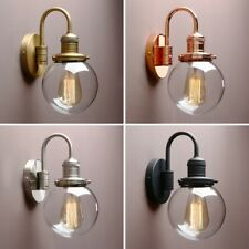 "5.9"" RETRO INDUSTRIAL DAMPPROOF BAR WALL SCONCE GLOBE GLASS LAMPSHADE WALL LIGHT"