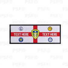 Leeds United FC Official Personalised St George Flag Badges Bar Runner LBR010