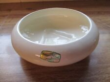 Vintage Haeger Glossy Cream Color Pottery Bulb Bowl ~MINT~