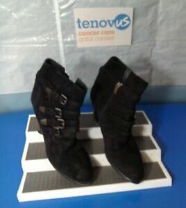 WBR47 Mint Velvet Harriet Black Suede Multi Strap Boot Size UK 7 / EU 40