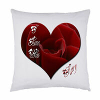 personalised cushion I Love You Heart Design ideal Valentines gift
