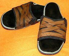 Cushe Footwear Manuka Slide Strap Stressed Leather Sandals Brown - MEN'S 8