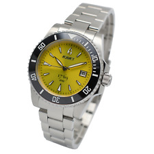 Aquacy 1769 Hei Matau Men's Automatic 300M Yellow Diver Watch ETA SWISS MOVEMENT