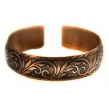Pure 100% Copper Bracelet Bioactive Bangle Vintage Style Bronze August