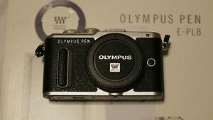 Olympus Pen E-PL8 16MP Spiegellose Systemkamera-Schwarz-12 Monate Gewährleistung