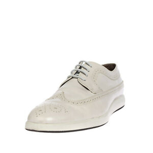 RRP €145 HOGAN Leather Shoes EU 48 UK 13 US 14 Longwing Brogue Made in Italy