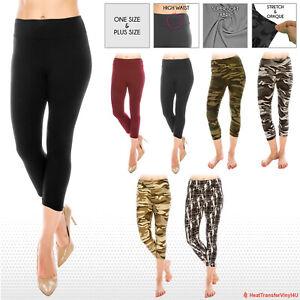 High Waist Ultra Soft Premium Yoga Pants Capri Leggings *FREE SHIPPING*