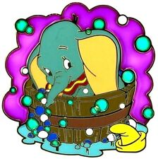 Rare Disney Dumbo Flying Elephant Bubble Bath Le-250 Jumbo Pin Stained Glass Fx