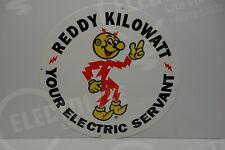"""Reddy Kilowatt LARGE 16"""" """"MEDALION"""" DIE CUT HEAVY DUTY SIGN ELECTRICIAN GIFT"""