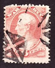 US O86 6c War Department Official Used w/ Small Iron Cross Fancy Cancel