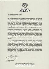 Nicky Clarke. English hair stylist and media personality  2002 Letter   RC.21