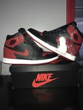 Nike Air Jordan 1 Bred Banned 2016 Size 12 I Retro High OG Black Red 555088-001