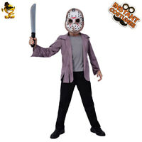 Child Jason Skirt Costume Halloween Kids Role Play Party Clothing