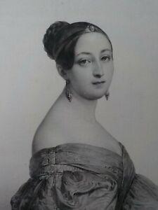 HENRI GRÉVEDON - Damenbildnis. Lithographie