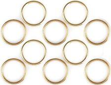 10 Serviettenringe Serviettenring Servietten Ring - Acryl Gold Ø 55mm
