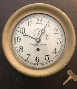 "CHELSEA Merchant Marine 'Non-Striking' (Mechanical) Ship Clock ~ 6"" ~ 1915-1919"