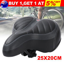 Big Wide Bum Bike Seat Bicycle Saddle Sporty Gel Cruiser Extra Comfort Soft Pad