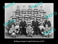 OLD LARGE HISTORIC PHOTO OF THE WELLINGTON RUGBY UNION TEAM 1967 NEW ZEALAND