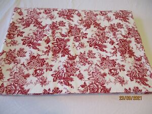 Bee & Willow Home King Flannel Flat Sheet Floral Country Cottage Chic