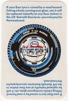 Playing Cards 1 Single Card Old ESSO E-420 RADIAL Car Tyre Tire Advertising Art