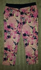 WOMENS Sz 12 pink blue & yellow NOW long floral shorts CLASSY! LOVELY!