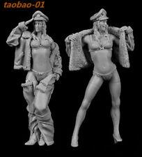 Resin figures Model Kit 1:35 Modern sexy women soldier 2 girls garage kit RN2036