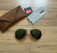 RAY BAN GOLD ARISTA OUTDOORSMAN AVIATOR RB 3407 001 58□14 3N Neu
