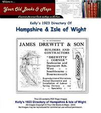 Kellys Directory of Hampshire & Isle of Wight 1923 CDROM