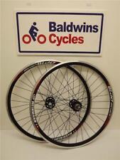 700c PAIR FIXIE Bike / Cycle Wheels FLIP FLOP Hubs - BLACK Weinman Rims