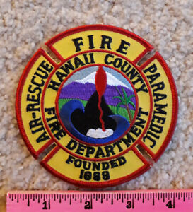 Fire, Air-Rescue Paramedic patch from Hawaii County