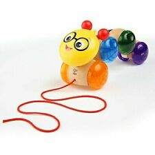 NEW! Baby Einstein Inch Along Cal Wooden Pull Toddler Toy, Ages 12 months and up