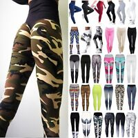 Womens Yoga Gym Fitness Leggings Sports Running Jogging High Waist Pant Trouser
