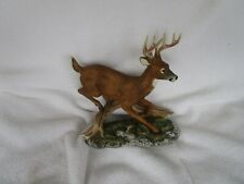 1986 White Tailed Deer Buck Masterpiece Porcelain Figurine Homco Home Interior