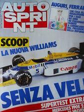 Autosprint n°8 1986 La nuova Williams senza veli  [P4]