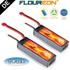 2er FLOUREON 2S 7.4V 5200mAh 30C Lipo Batterie Akkus T Plug für RC Hobby Auto