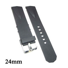 New Compatible Corum Admiral's Cup 24mm Black Diver Rubber Watch Strap