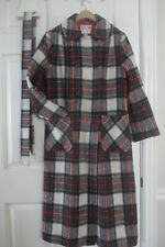 Vintage Plaid Wool Mohair Swing Coat Mid Length George White Tailors England 6