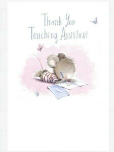 Hallmark Pack Of 6 Thank you Teaching Assistant Cards