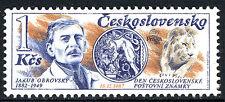 Czechoslovakia 2683, MNH. Jacob Obrovsky, stamp designer, Sketch of a lion, 1987