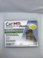 New listing Cat Md Maximum Defense Plus Kills Fleas Eggs & Larva Ticks & Lice Topical
