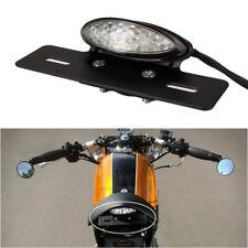 12V Rear License Number Plate Brack Tail Light For Motorcycle Custom Cafe Racer