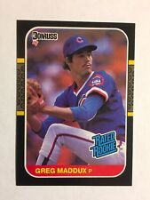 New listing 1987 Donruss #36 Greg Maddux Rated Rookie NM/MT (Free shipping)