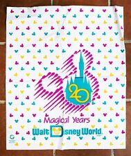 Vintage (1991) 20th Aniversary DISNEY WORLD BAG. GIANT SIZE, 62x52 cm, 25x21 In!