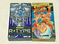 Street Fighter 2 & Super R-Type Nintendo SFC Super Famicom Japan SNES NTSC-J JP