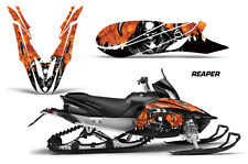 Snowmobile Graphics Kit Decal Sticker Wrap For Yamaha Apex 2011-2018 REAPER ORNG