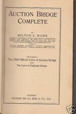 AUCTION BRIDGE COMPLETE - MILTON C. WORK