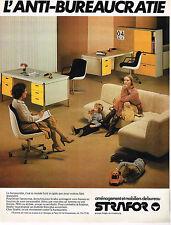 PUBLICITE ADVERTISING 014  1979   STRAFOR   mobilier de bureau